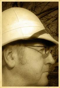 Ian Hutson sportinng pith helmet and matching tropical underwear.