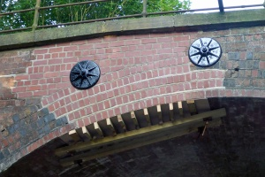 Repairs are nearly completed to the archway brickwork destroyed by the impact of the lorry.