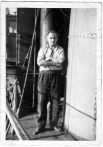Harry Hutson, Radio Operator, Deep-Sea trawlers out of Grimsby.