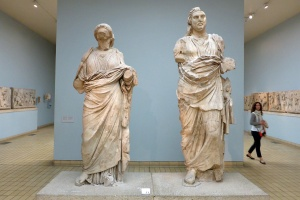 A couple of statues in the Pale Blue Room. No idea what they are, other than gobsmackingly fantastic to see.