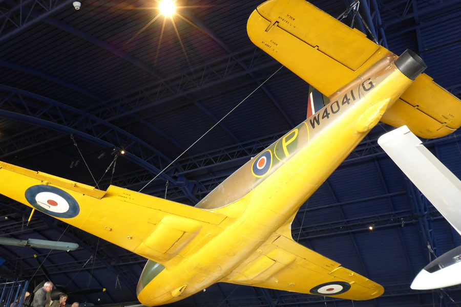 The RAF's cuning yellow aeroplanes, designed to be wholly invisible among buttercups in the sky. As a nation, we put our shoulders to the grindstone, dug deep into our Post Office Savings Accounts, and made up to three of these during the Second Great Unpleasantness.