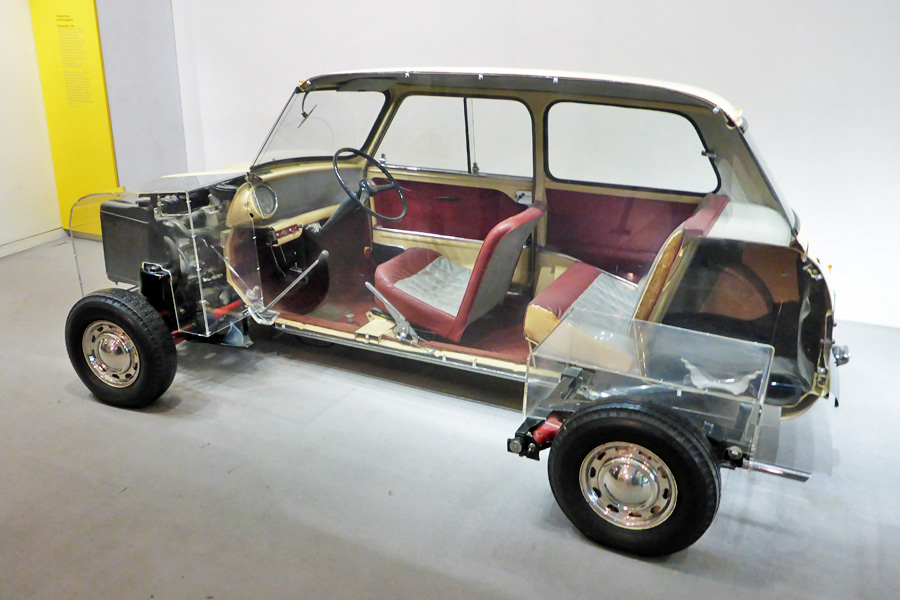 The Austin Mini was the first car ever designed to be convenient during divorce cases, coming as it did in two parts - slightly less than half and slightly more than half.