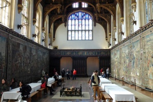 The Great Hall - a wonder of the world, with the most amazing tapestries, stained-glass windows and vaulty-vaulty ceiling.