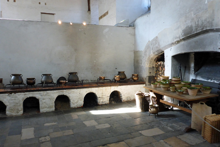 The kitchens at Hampton Court Palace were not supplied by B&Q. Not a microwave in sight.