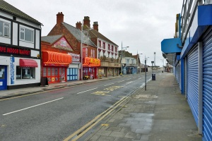 The main drag of Mablethorpe and ne'ery a person to be seen...