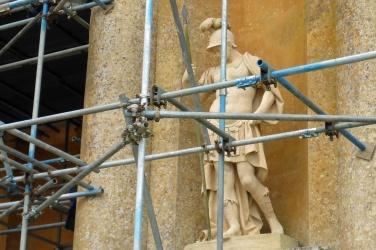 I came to scaffold Caesar, not to bury him. Or something. Veni, vidi, where's my plastic sheeting?